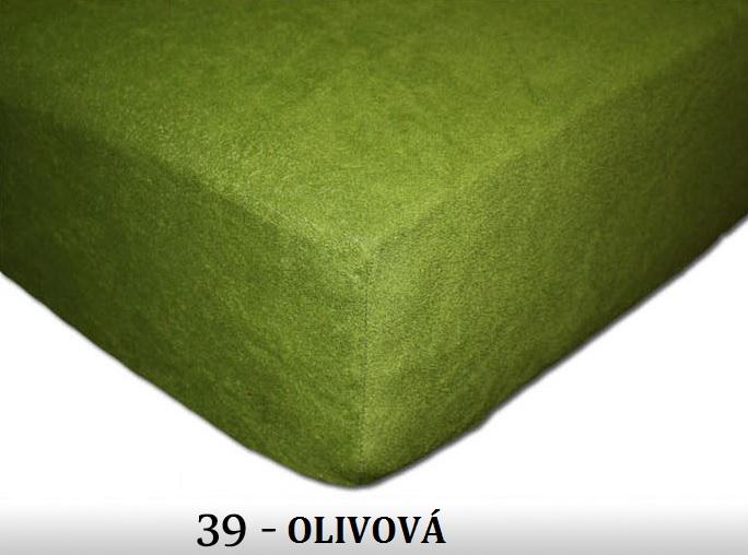 FIT Prostěradla 180g Barva: 39 OLIVOVÁ, Rozměr: 160x200 cm