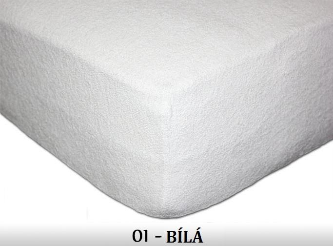FIT Dětská prostěradla 180g/m2 Barva: 01 bílá, Rozměr: 60x120