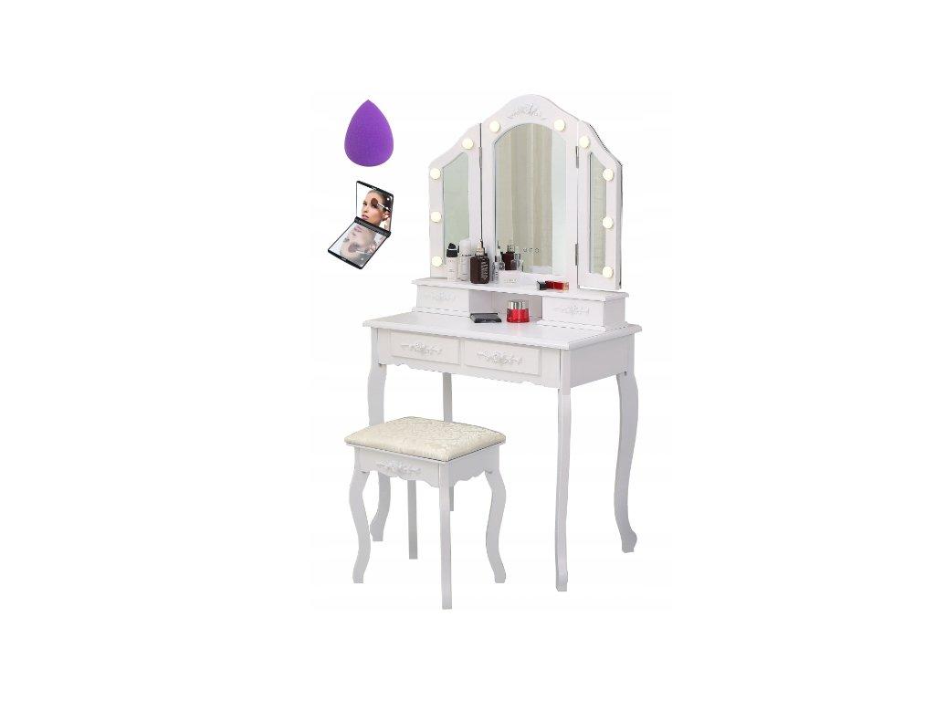 1433 toaletni stolek tl 14 s led osvetlenim 3 zrcadla