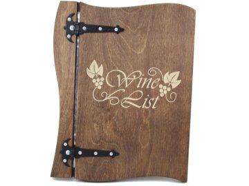 Desky na vinný lístek ze dřeva
