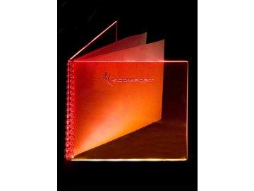 Desky na bar Plexi - fluorescenční barva - oranžová