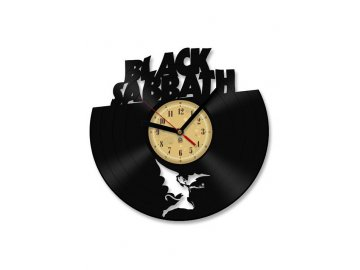 LP designové hodiny Black Sabbath