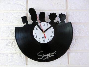 LP designové hodiny Simpsons