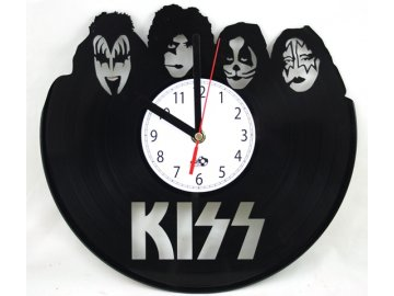 LP designové hodiny Kiss