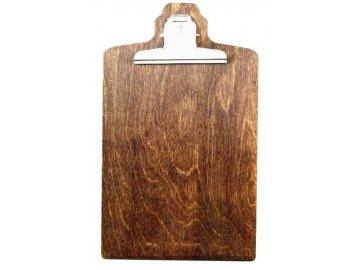 Dřevěná deska s klipem design
