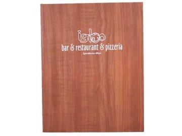 Desky na jídelní lístek PRAKTIK - imitace dřevo