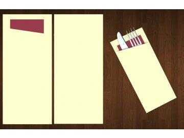 kapsa na příbory jednobarevná krémová