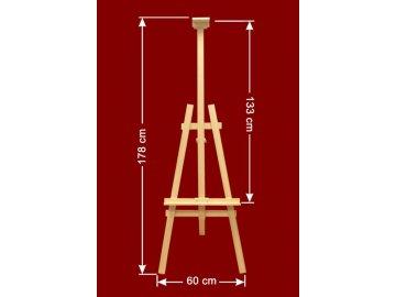 Malířský stojan pro umístění tabulí  Dřevěný malířský stojan