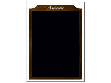 Reklamní tabule dřevěná závěsná střední s logem