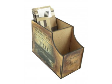 Dřevěné retro stojánky na příbory - individuálně vyráběno