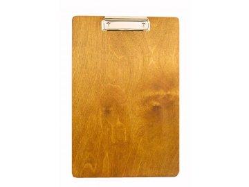 Dřevěná deska s klipem bez úchytu na propisku