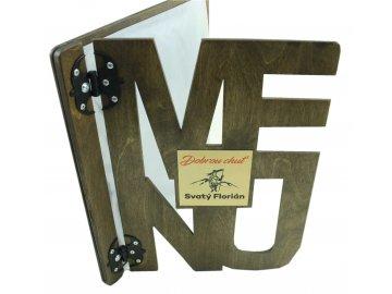 Desky na jídelní lístek ze dřeva - design MENU