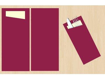 kapsa na příbory jednobarevná vínová