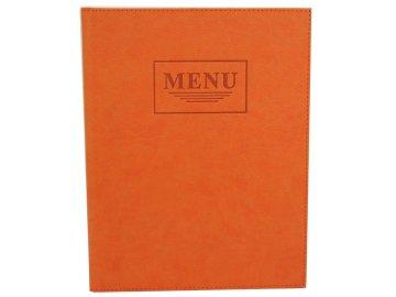 Desky z italské imitace kůže oranžová