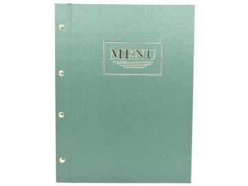 Desky na jídelní lístek PRAKTIK - metalizované zelené
