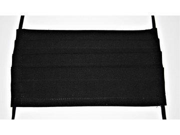 Rouška bavlněná černá s kapsou