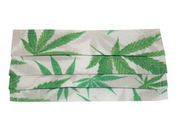 Rouška bavlněná - cannabis