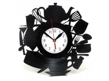 LP designové hodiny do kuchyně