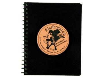 Desky na jídelní lístek z vinylové gramodesky - retro