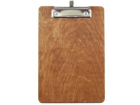 Podložka pro servis / jídelní lístek dřevěná / s úchytem na propisku