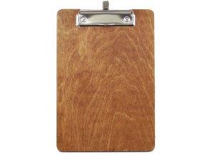 Dřevěná deska s klipem a úchytem na propisku