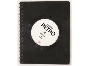 Desky na jídelní lístek z vinylové gramodesky - retro (fólie)