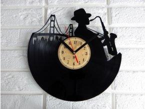 LP designové hodiny Brooklyn Jazz
