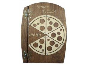 Desky na jídelní lístek ze dřeva - design Pizza