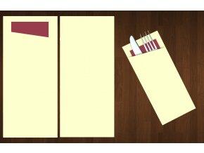 kapsa na příbory jednobarevná