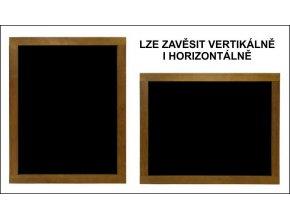 Reklamní tabule dřevěná závěsná střední