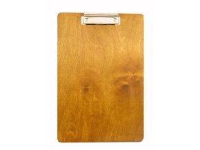 Dřevěná deska s klipem a úchytem bez úchytu na propisku