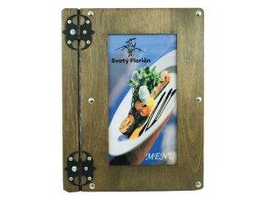Desky na jídelní lístek ze dřeva s vyměnitelným obrázkem