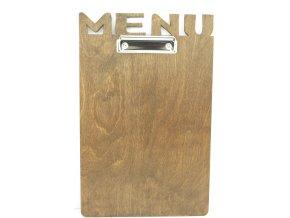 Podložka pro jídelní lístek  dřevěná s MENU