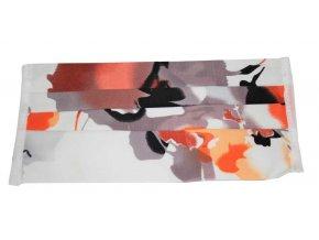 Rouška bavlněná - pelargónie