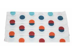 Rouška bavlněná - bílá s puntíky
