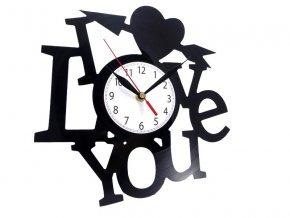LP designové hodiny I love you