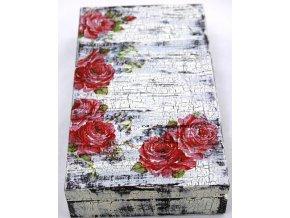 dřevěná krabička na účet decoupage