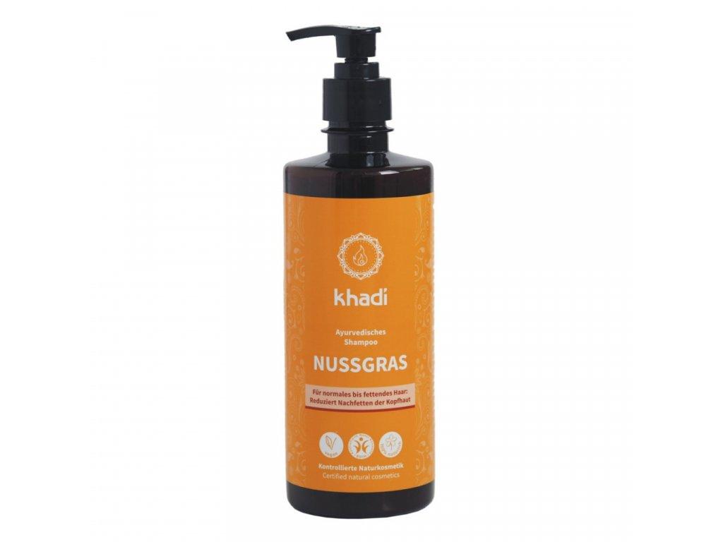 Khadi šampón OŘECHOVÁ TRÁVA na normální a mastné vlasy - 500 ml