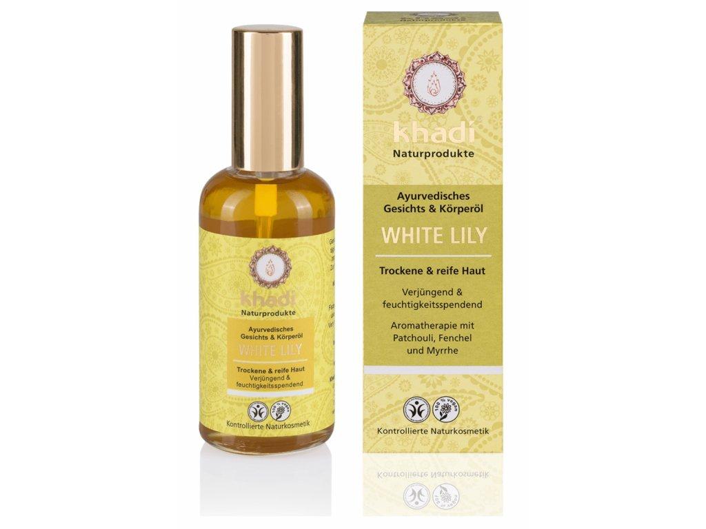 Khadi pleťový a tělový olej BÍLÁ LILIE - 100 ml