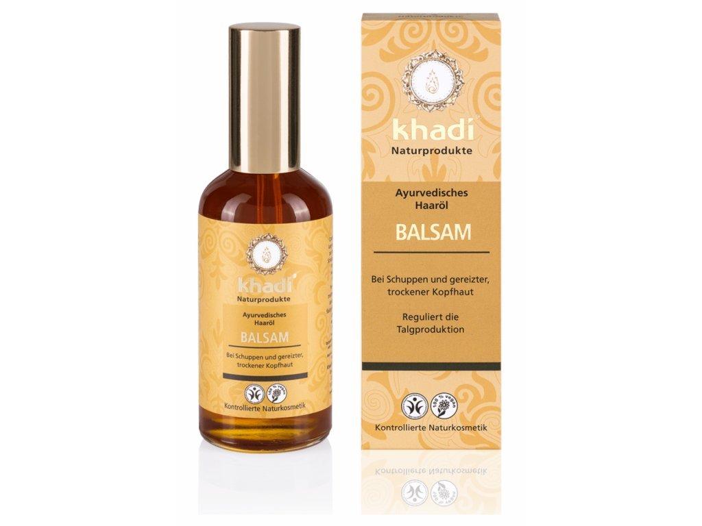 Khadi vlasový olej BALZÁM proti lupům a svědivé pokožce hlavy