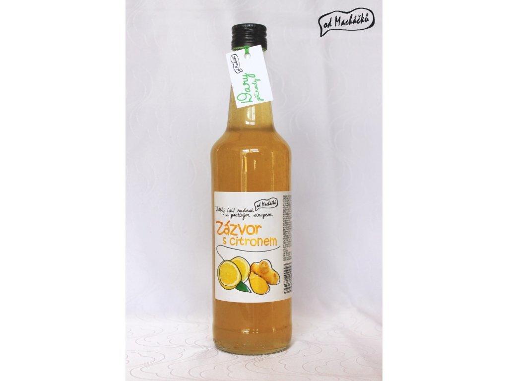 Sirup zázvor s citronem 500 ml