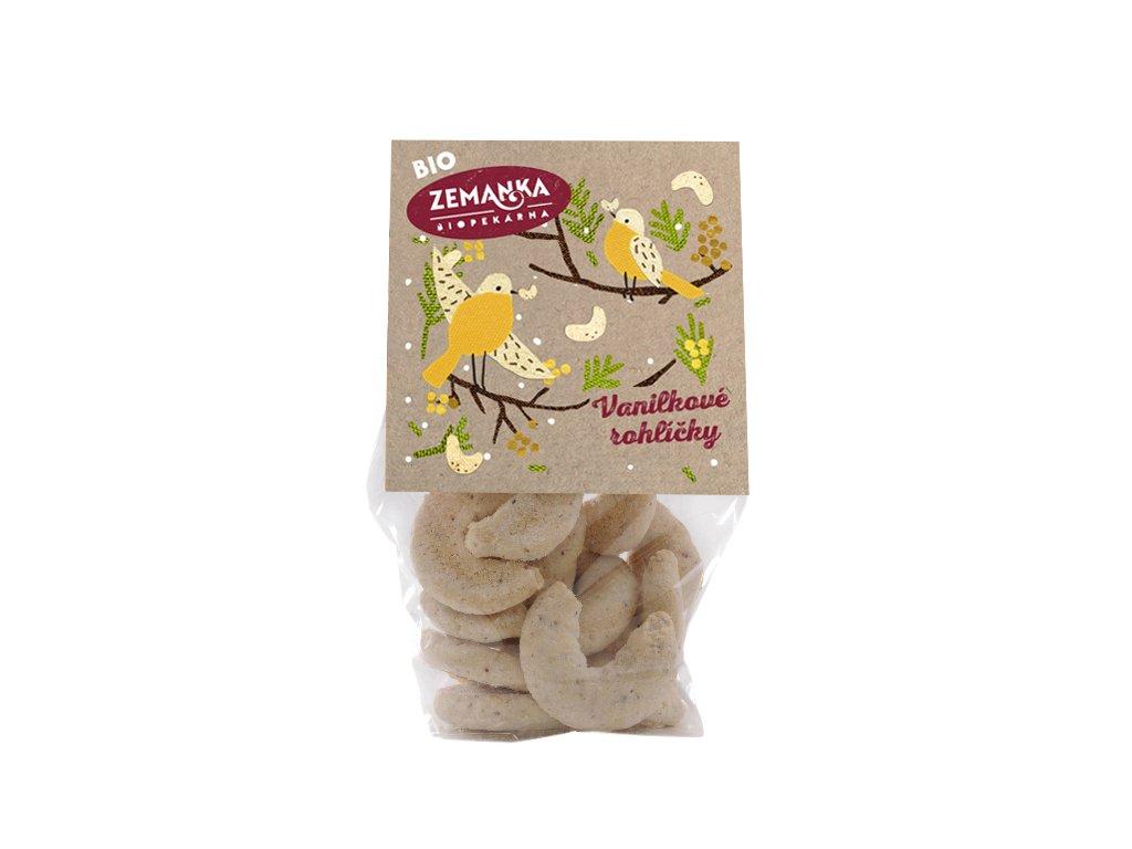 Vanilkové bio rohlíčky