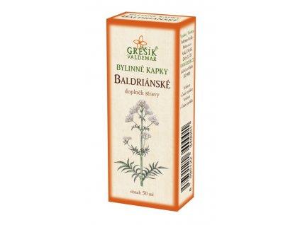 20532 baldrianske kapky 50 ml gresik z 40 lih bylinne kapky