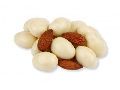 mandle v bílé čokoládě 250g