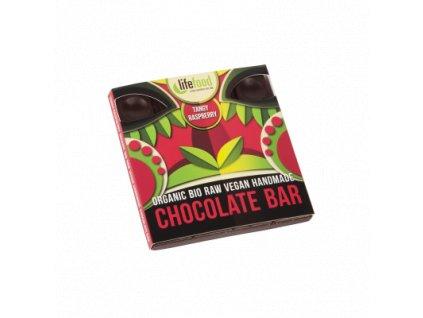 Lifefood čokoláda malinová BIO RAW 35 g