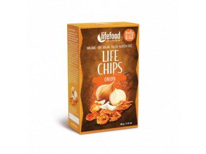 LIFE CHIPS Zeleninové chipsy cibulové BIO RAW