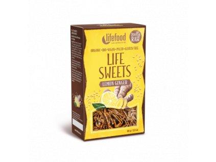 LIFE SWEETS Zázvorové lněnky s citronovou kůrou BIO RAW