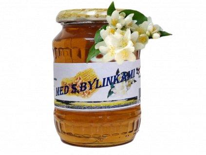 med s bylinkami jasmín s květem po ořezu a úpravě