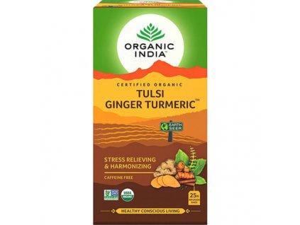Tulsi s kurkumou a zázvorom Organic India 600x600