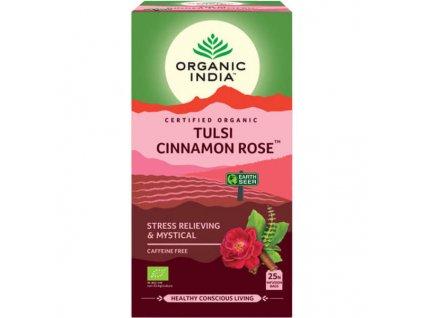 Tulsi s ružou a škoricou Organic India 600x600 600x600
